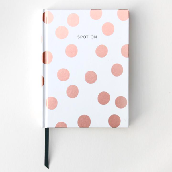 Pocket Notizbuch golden dots Spot On